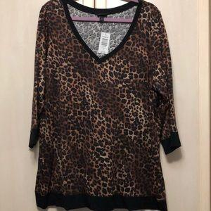 Torrid NWT leopard long sleeve shirt torrid size 3